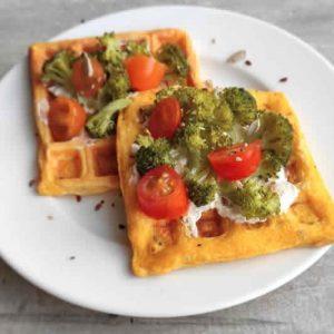 Waffles de zanahoria